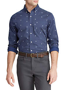 Chaps Long  Sleeve Easy Care Button Down Shirt