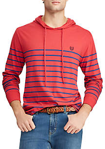 Chaps Long Sleeve Lightweight Popover Hoodie