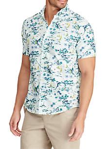 Chaps Short Sleeve Hawaiian Print Shirt