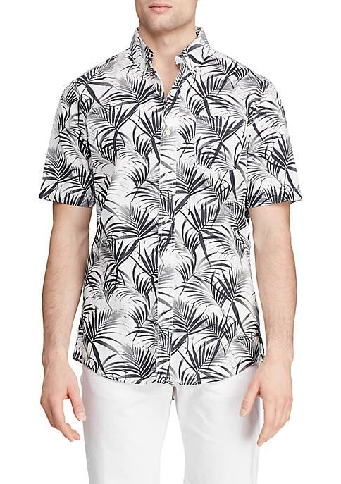 Easy Care Printed Short Sleeve Shirt