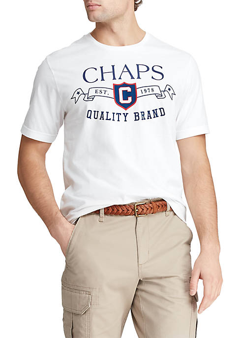 Chaps Short Sleeve Cotton Blend Graphic T-Shirt