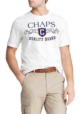 aac687732c4 Chaps Short Sleeve Cotton Blend Graphic T-Shirt ...