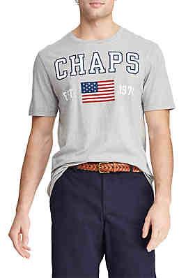 1254e644ec Chaps Short Sleeve Cotton Blend Graphic T-Shirt ...