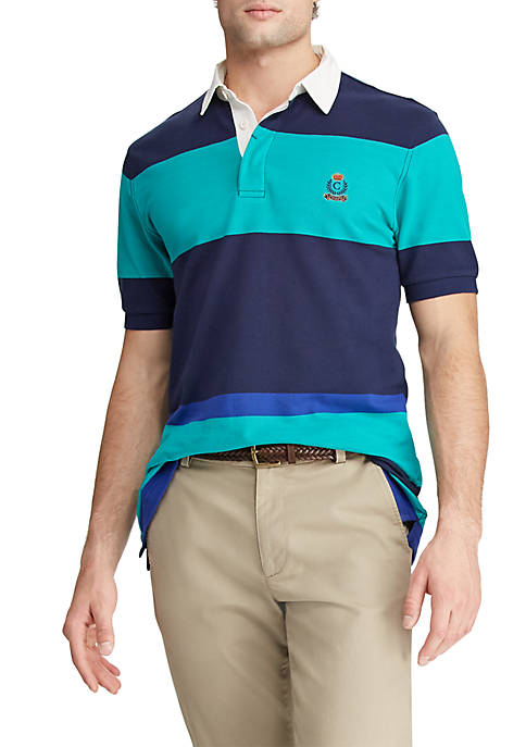 Chaps Heritage Collection Color Blocked Rugby Shirt