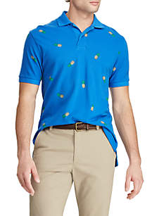 Chaps Short Sleeve Pique Polo Pineapple Shirt