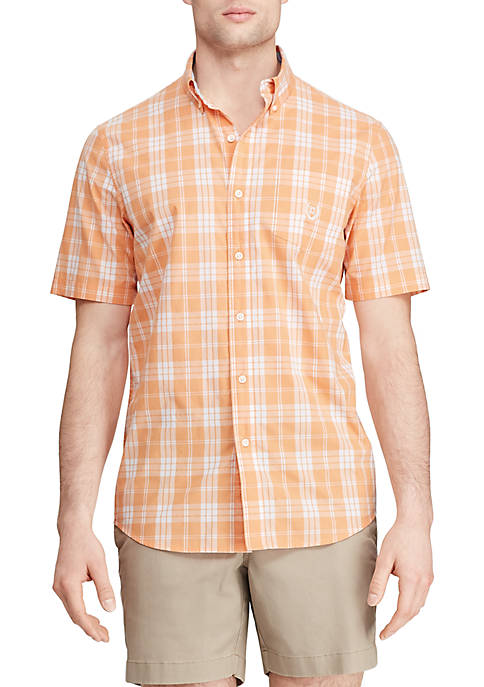 Easy Care Short Sleeve Button Down Shirt