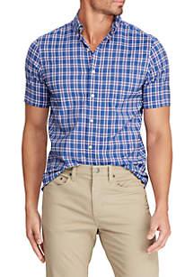 Chaps Short Sleeve Royal Performance Woven Shirt