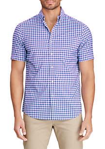 Chaps Baja Pink Short Sleeve Performance Woven Shirt