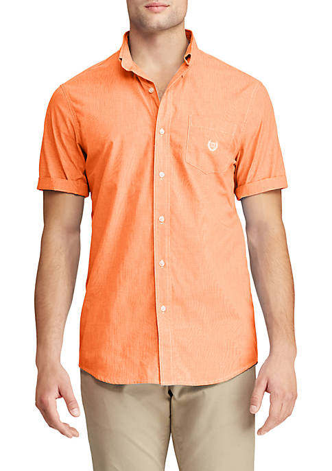 Chaps Slim Fit Easy Care Short Sleeve Button