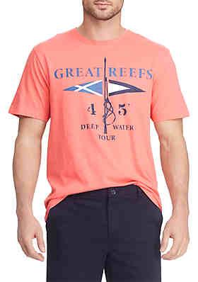3d8ca9ab4 Chaps Short Sleeve Cotton Graphic T Shirt ...