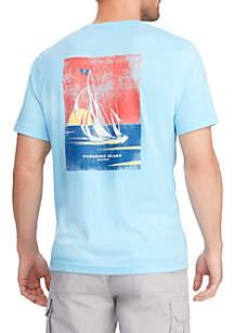 Chaps Short Sleeve Cotton Graphic T Shirt