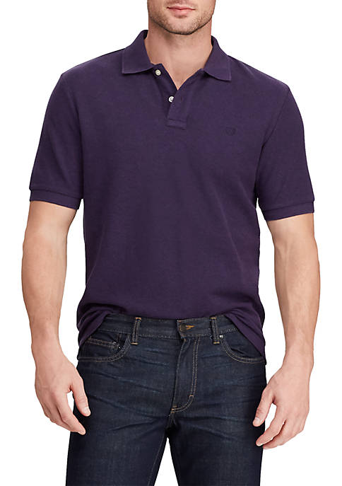 Chaps Short Sleeve Cotton Polo Shirt