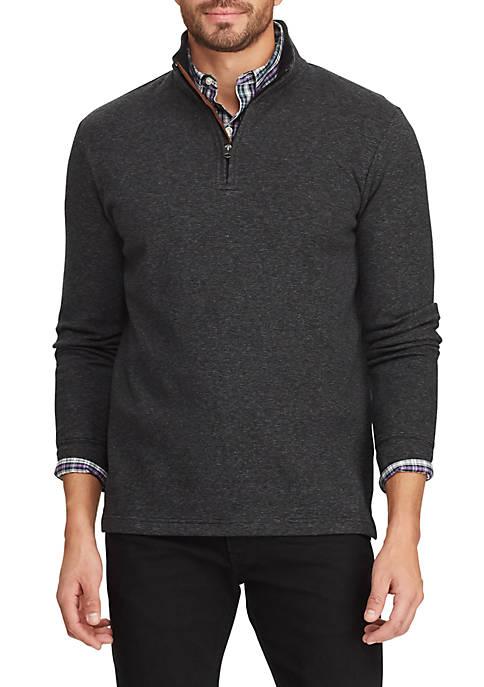 Chaps Mens 1/4 Zip Mock Neck Pullover