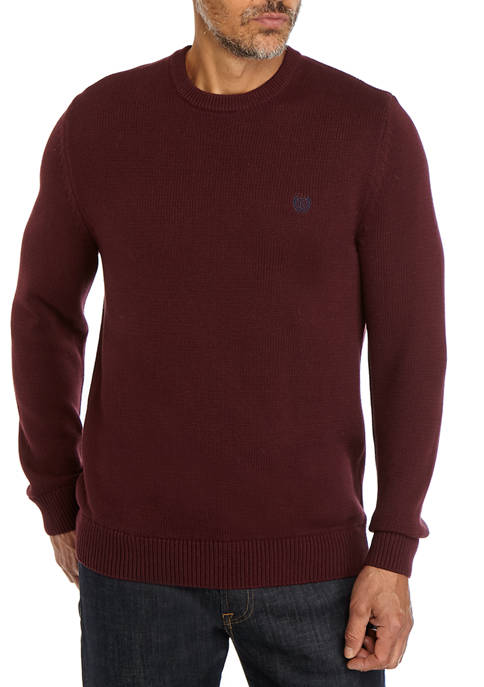 Chaps Solid Crew Sweater