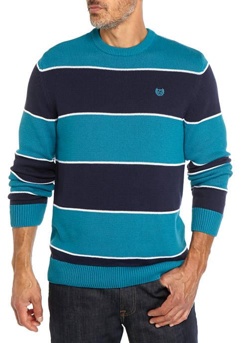 Crew Neck Stripe Pullover