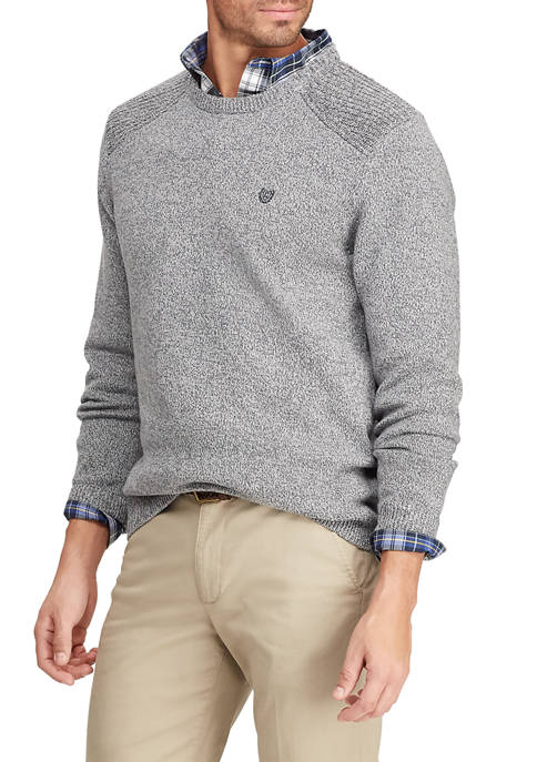 Chaps Mens Cotton Crew Neck Sweater