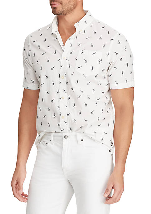 Easy Care Printed Short Sleeve Shirt