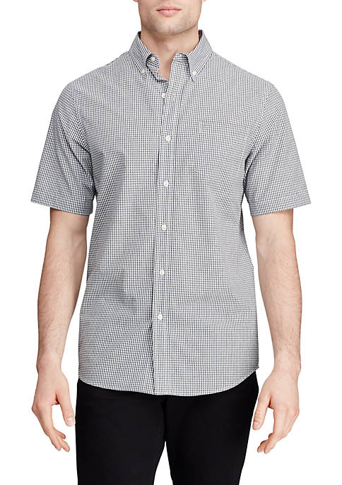 Chaps Easy Care Short Sleeve Button Down Shirt