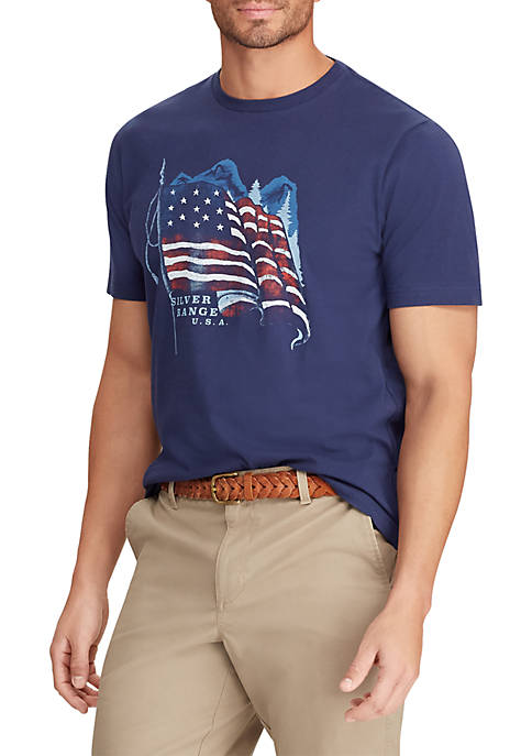 Short Sleeve Cotton Blend Graphic T Shirt