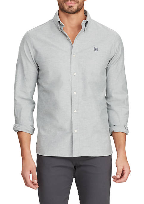 Chaps Long Sleeve Stretch Oxford Button Down Shirt