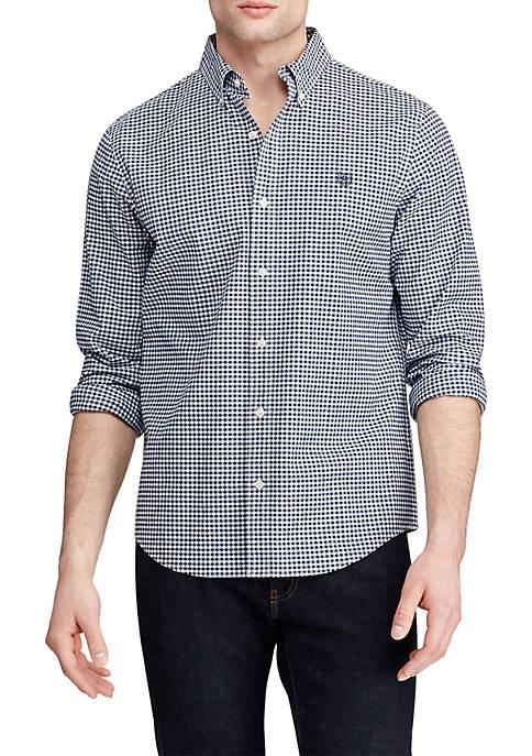 Long Sleeve Stretch Oxford Button Down Shirt