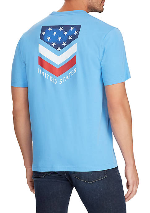 Chaps Short Sleeve Cotton Blend Graphic T-Shirt