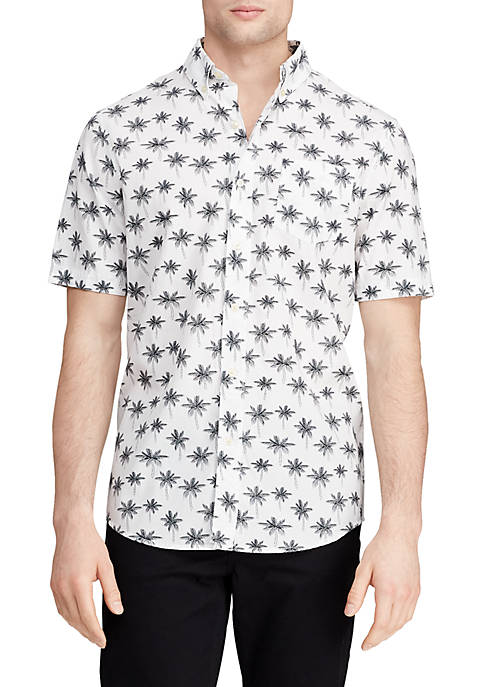 Chaps Easy Care Printed Short Sleeve Shirt
