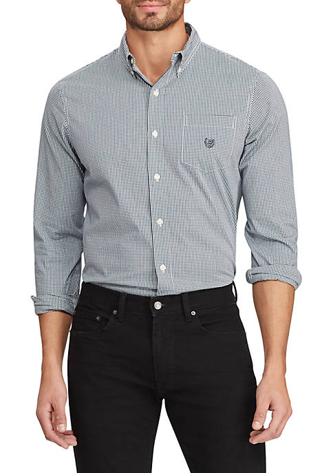 Chaps Mens Long Sleeve Checkered Shirt