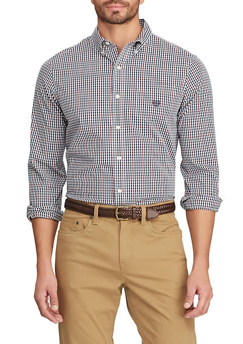 Mens Easy Care Long Sleeve Plaid Shirt