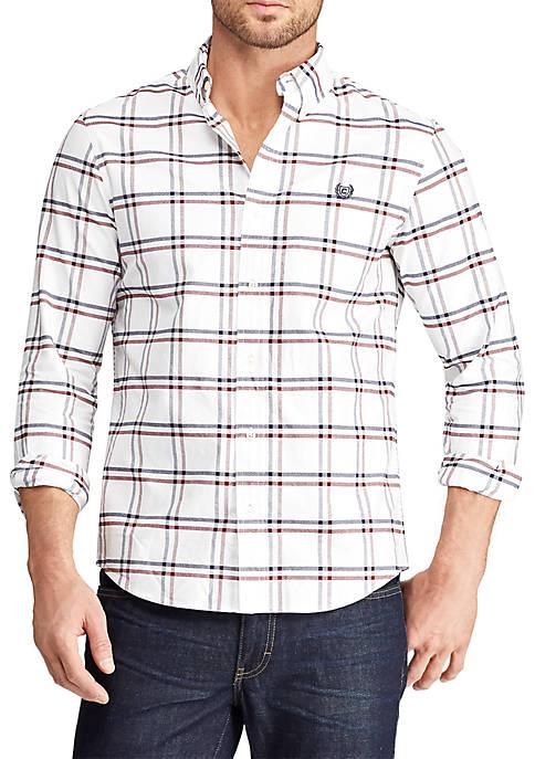 Chaps Long Sleeve Stretch Oxford Button Down Shirt