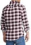 Mens Plaid Flannel Long Sleeve Shirt