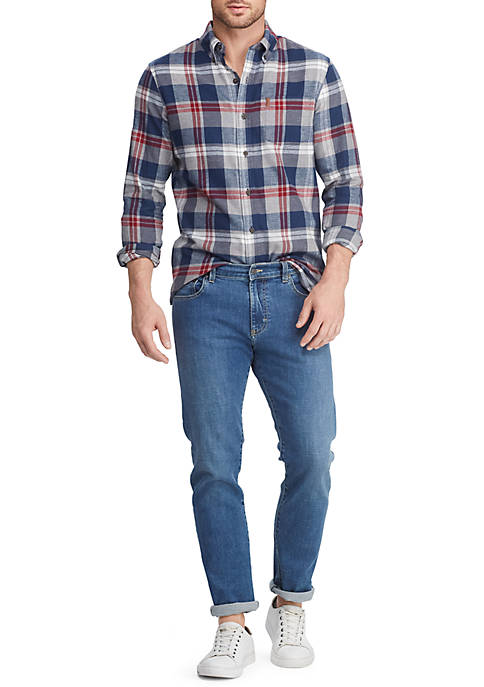 Chaps Mens Plaid Flannel Shirt