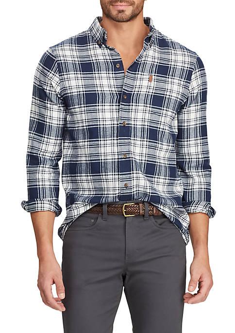 Chaps Mens Plaid Flannel Long Sleeve Shirt