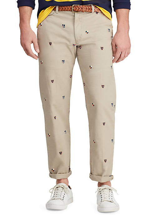 Chaps Mens Heritage Collection Straight Fit Twill Pants