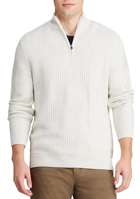 Chaps Mens Cotton Blend Mock Neck 1/4 Zip