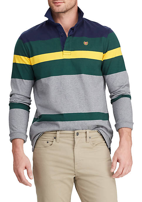 Chaps Mens Color Block Rugby Shirt