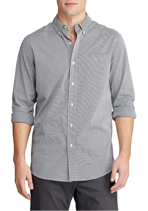 Chaps Mens Stretch Easy Care Button Down Shirt