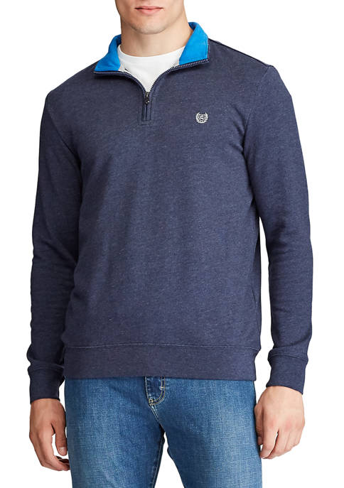 Chaps 1/4 Zip Performance Mock Neck Sweater