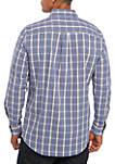 Long Sleeve Easy Care Ultramarine Plaid Shirt