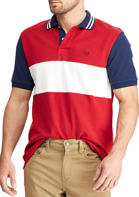 Chaps Mens Lead Table Short Sleeve Red Multi
