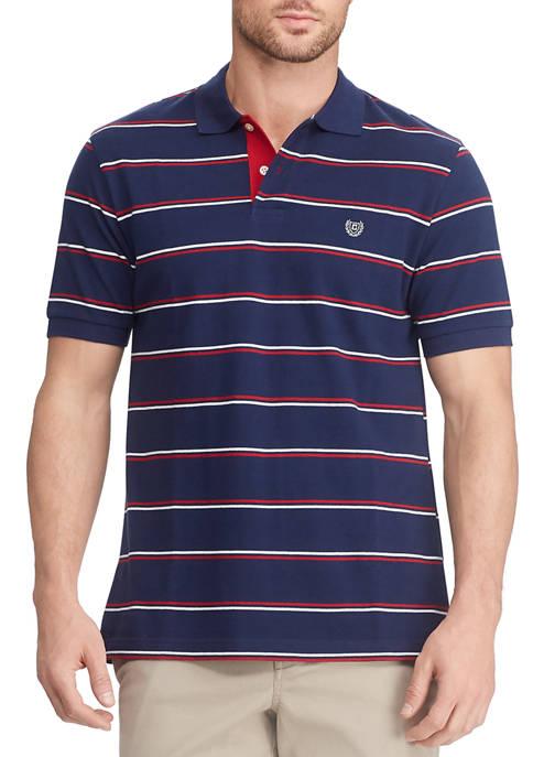 Mens Lead Table Short Sleeve Stripe Polo Shirt