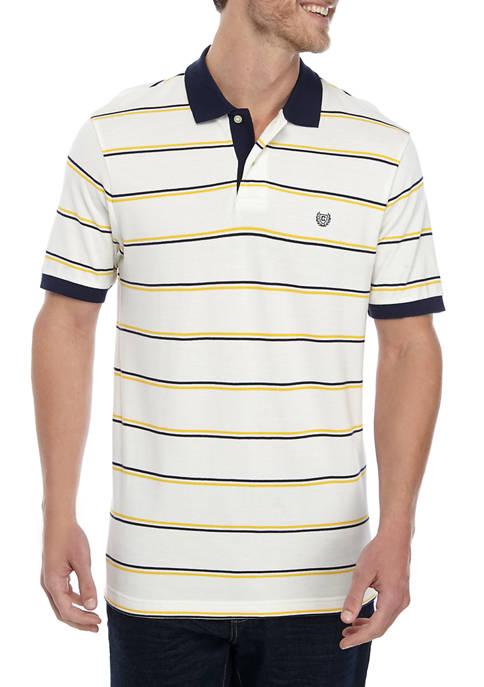 Mens Short Sleeve Stripe Polo Shirt
