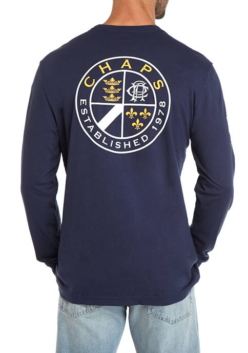 Mens Lead Table Long Sleeve Graphic T-Shirt