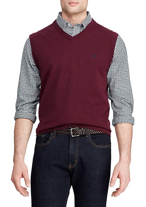 Chaps Mens Fleece Sweater Vest