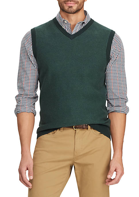 Chaps Mens Fleece Sweater Vest
