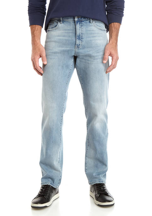Chaps Mens Lead Table Stretch Denim Blue Jeans