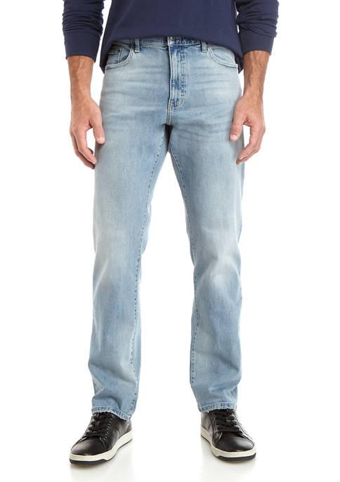 Mens Lead Table Stretch Denim Blue Jeans