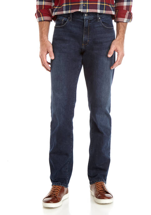 Chaps Mens Lead Table Stretch Dark Jeans