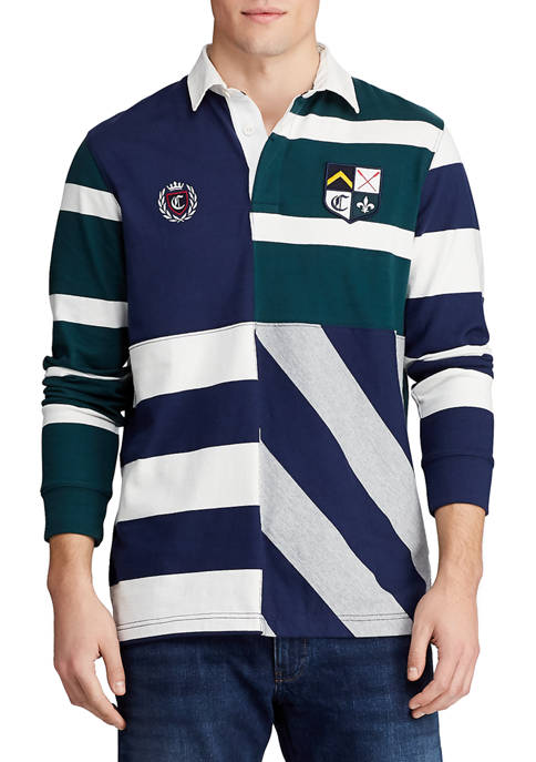 Chaps Mens Long Sleeve Rugby Shirt