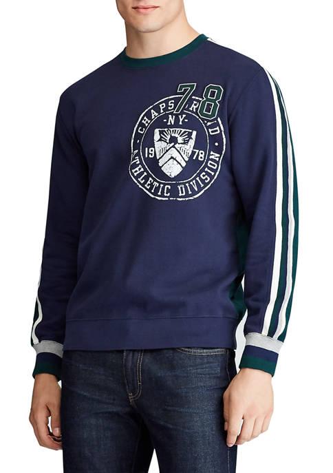 Chaps Mens Long Sleeve Crew Neck Sweatshirt